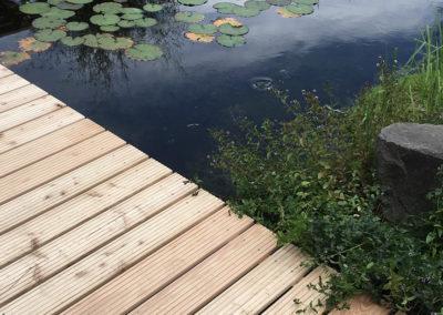 Galabau - Teich mit Steg